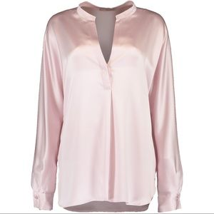 VINCE Band Collar Silk Blouse. NWOT